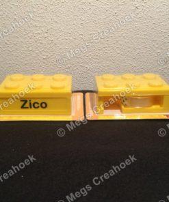 Lego plakbandhouder met naam