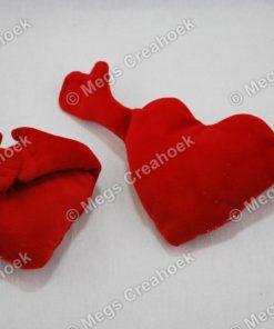 Knuffelhartje rood