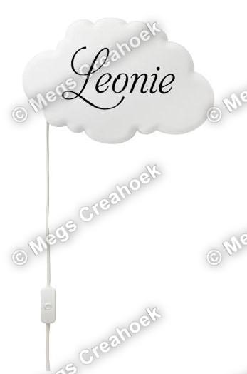 Wolklamp met naam Leonie
