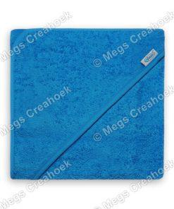 Badcape blauw (met naam)