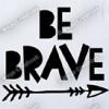Strijkapplicatie: Be brave