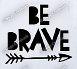 Strijkapplicatie: Be brave