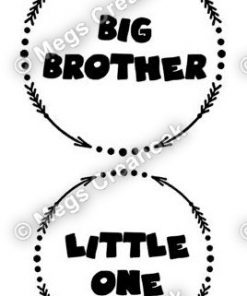 Strijkapplicatie: Big brother - little one