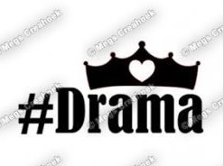 Strijkapplicatie: #Drama