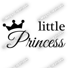 Strijkapplicatie: Little Princess