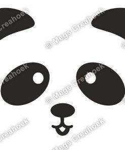 Strijkapplicatie: Panda