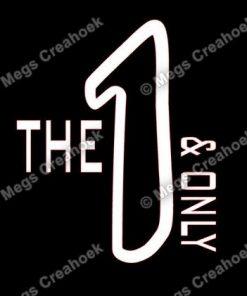Strijkapplicatie: The 1 & only