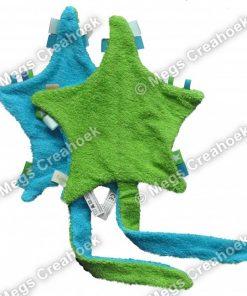 Ster in tutten groen/blauw