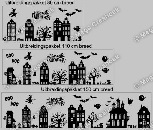Raamsticker Halloween compleet