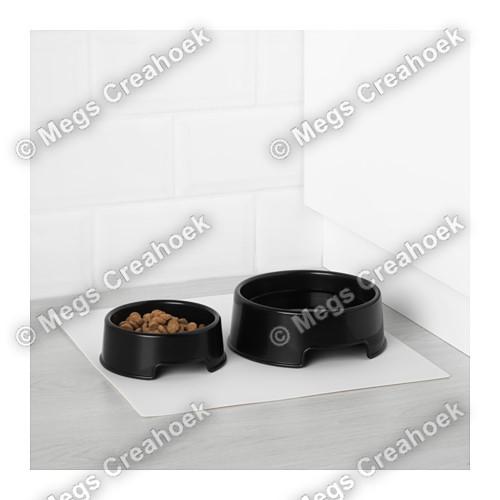 Dierenbak zwart groot/mini
