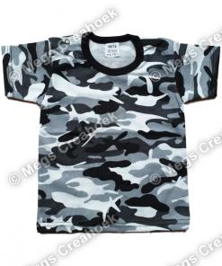 T-shirt Camo Grijs
