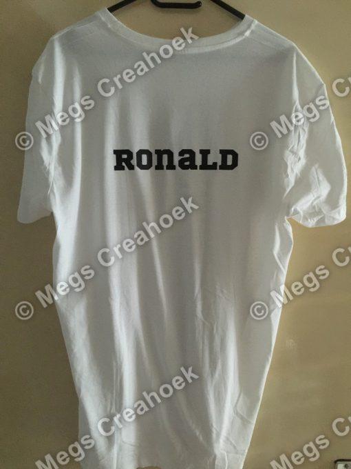 Shirt met naam (volwassenen)