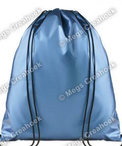 Tas metallic blauw