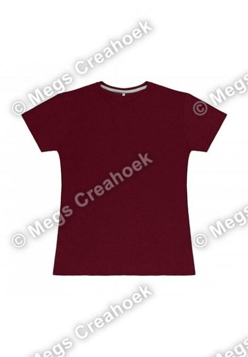 Dames t-shirt SG - Burgundy