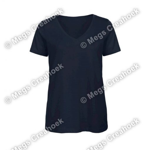Dames shirt v-hals - Navy