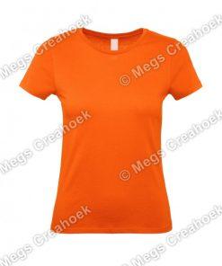 Oranje shirt dames