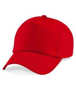 Junior 5 panel cap - Bright Red