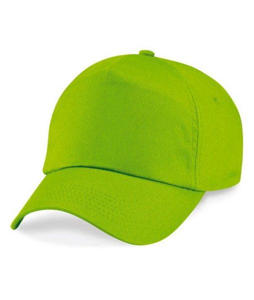Junior 5 panel cap - Lime Green