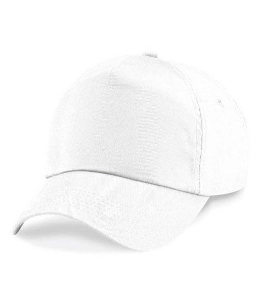 Junior 5 panel cap - White