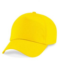 Junior 5 panel cap - Yellow